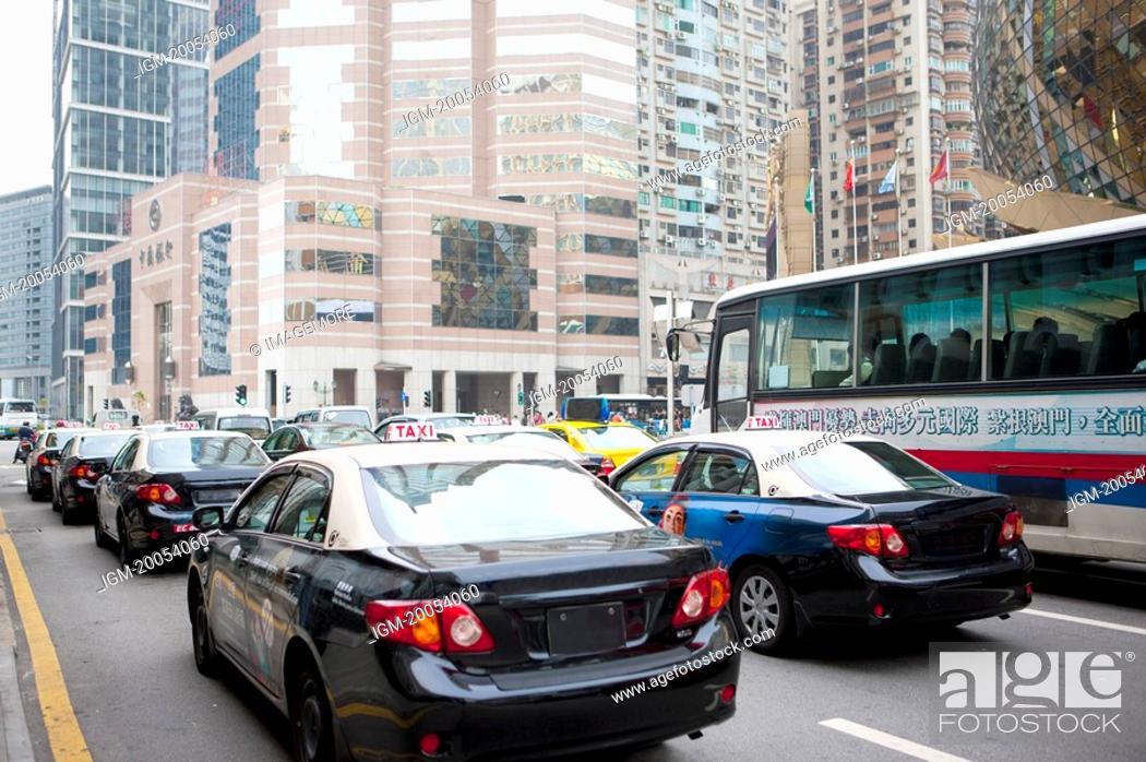 Stock Photo: China, Macou, City Street.