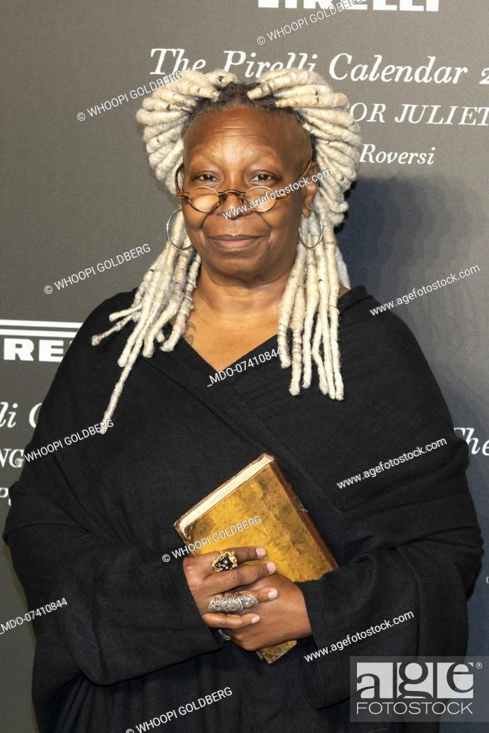 Stock Photo: American actress Whoopi Goldberg during the presentation of the Pirelli 2020 Calendar at the Verona Philharmonic Theater.