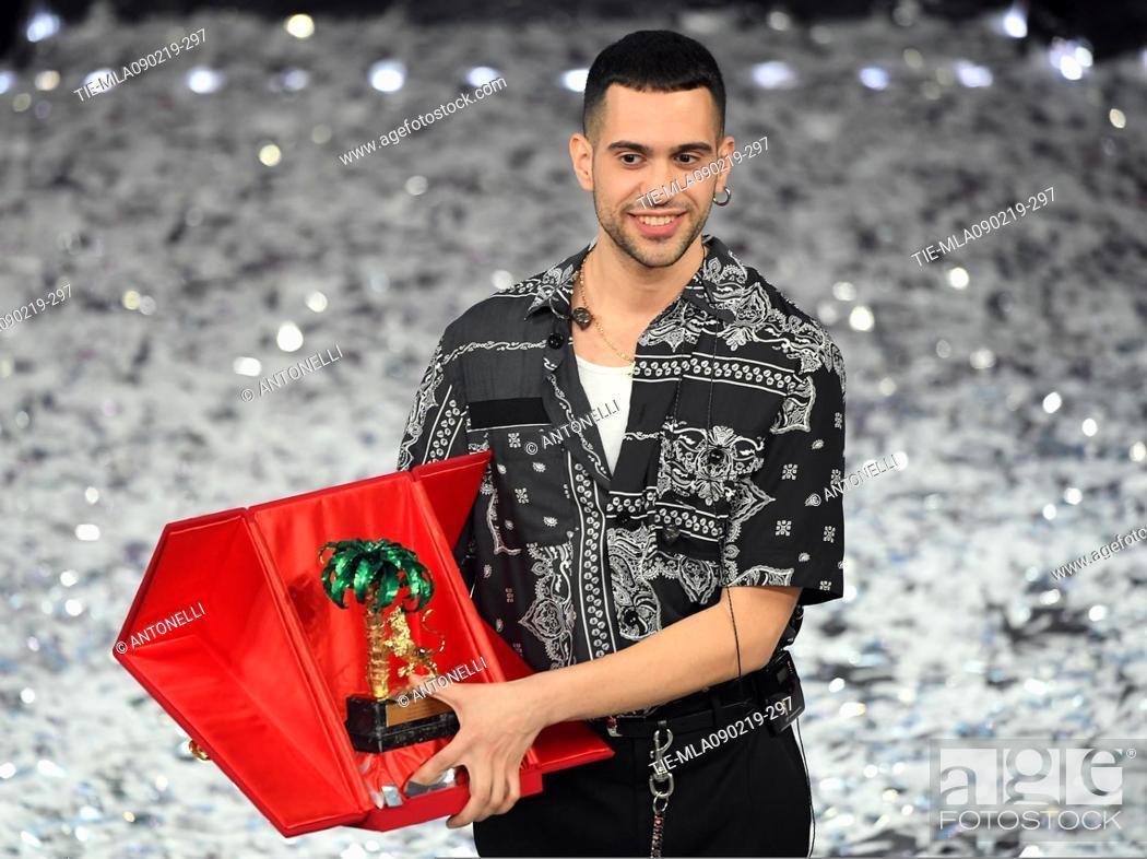Imagen: Mahmood, winner of 69th Festival of the Italian Song. Sanremo, Italy 10 Febr 2019.