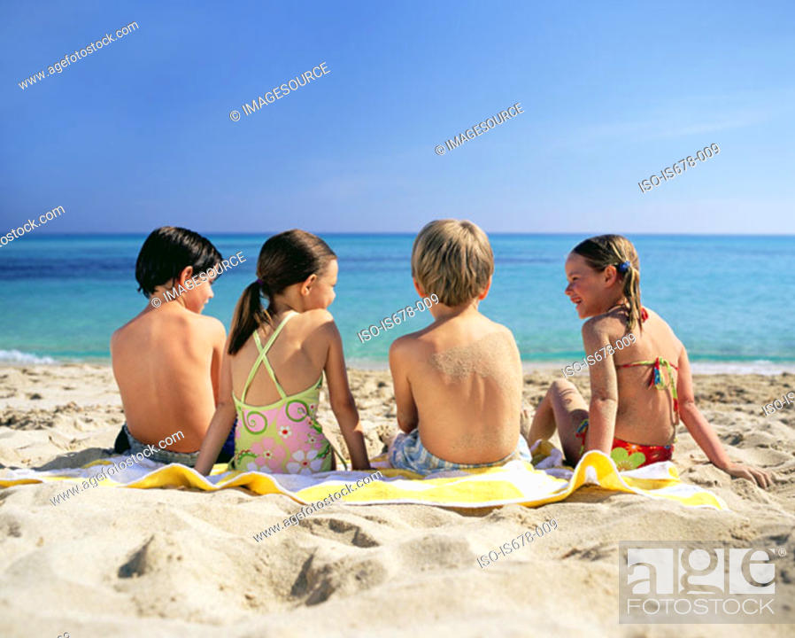 Stock Photo: Children at the beach.