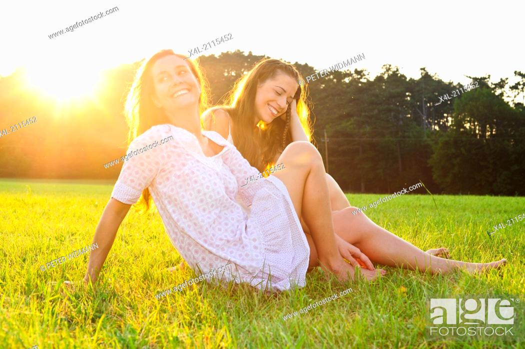 Stock Photo: young beautiful women (model-released).