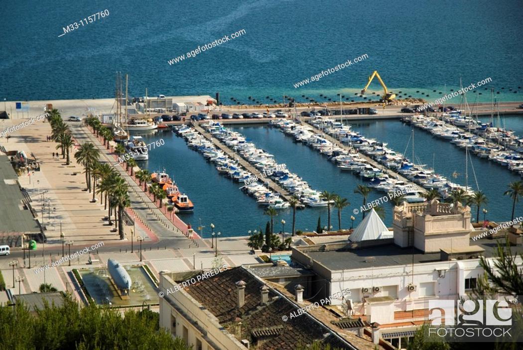 Stock Photo: Marina from Concepcion Castle CARTAGENA CITY Murcia region Spain.