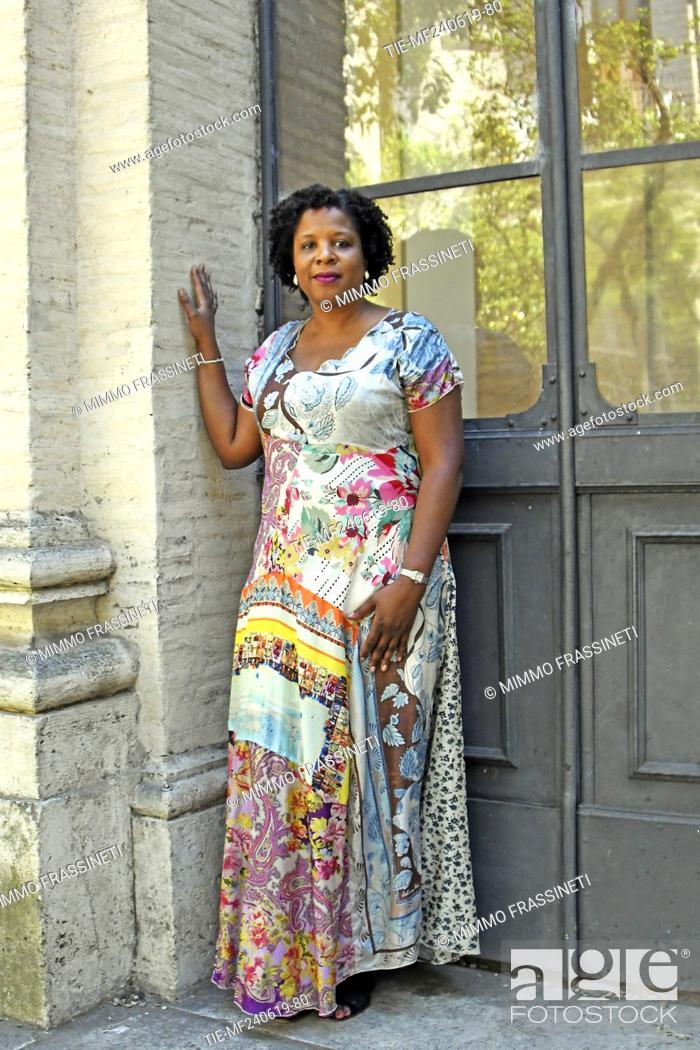 Photo de stock: The writer Tayari Jones attends at the 18th International Literature Festival, Rome, ITALY-24-06-2019.