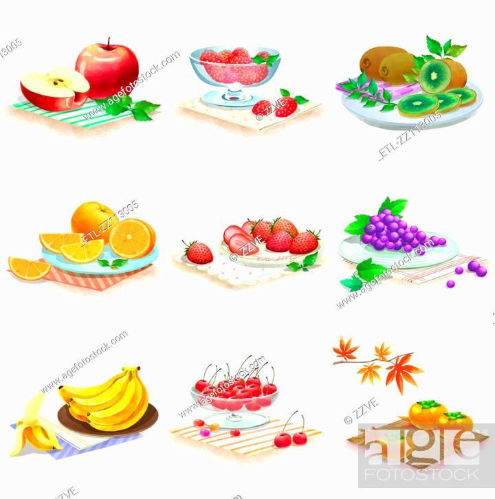 Stock Photo: Close-up of fruits.