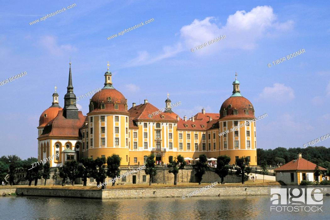 Stock Photo: Moritzburg Castle near Dresden, Saxony, Germany.