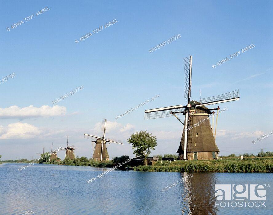Stock Photo: Netherlands. Windmills. Zaanse Schans Mills.
