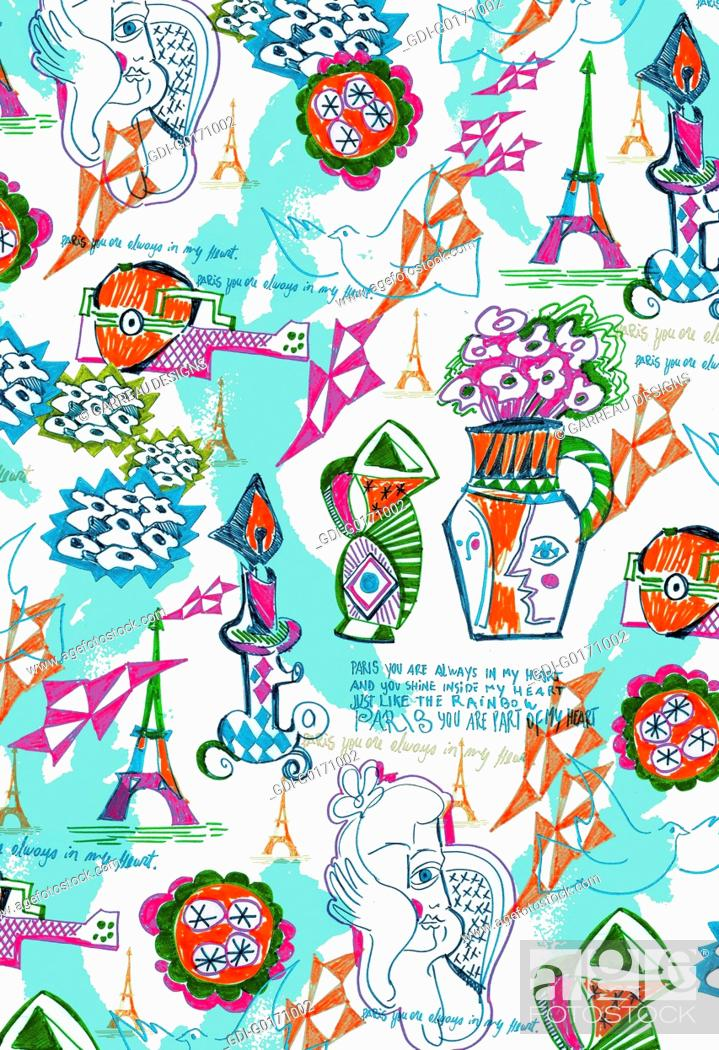 Imagen: Colorful Picasso inspired design.