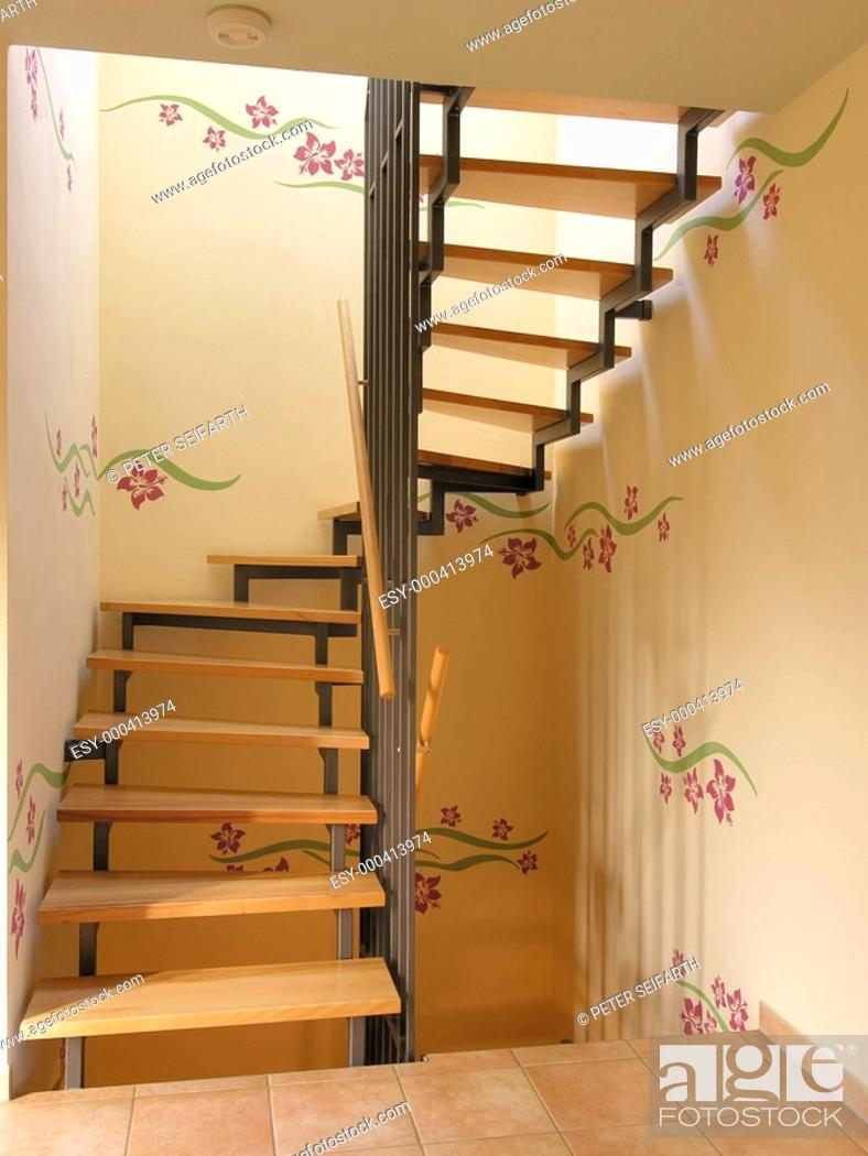Interior Treppenhaus Modern Wandtattoos Stock Photo Picture And