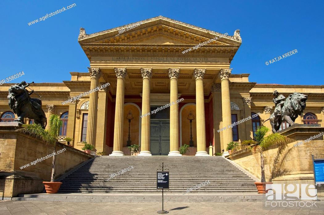Teatro Massimo opera house, Palermo, Province of Palermo, Sicily ...