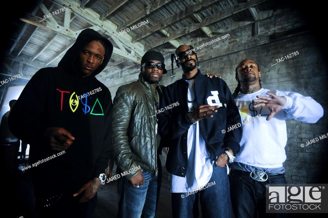 L R Yg 50 Cent Snoop Dogg And Ty Dolla Sign Portrait On Set At The Toot It Boot It Remix Stock Photo Picture And Rights Managed Image Pic Tac 162785 Agefotostock