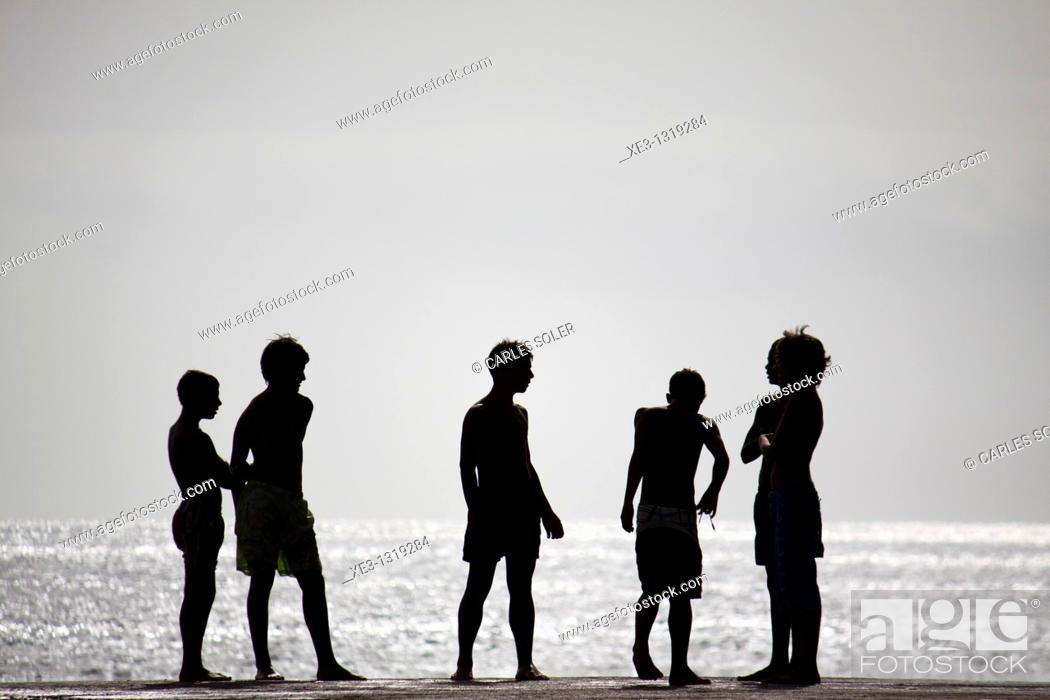 Stock Photo: Young swimmers.