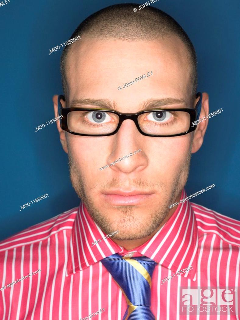 Stock Photo: Man in glasses head and shoulders portrait.