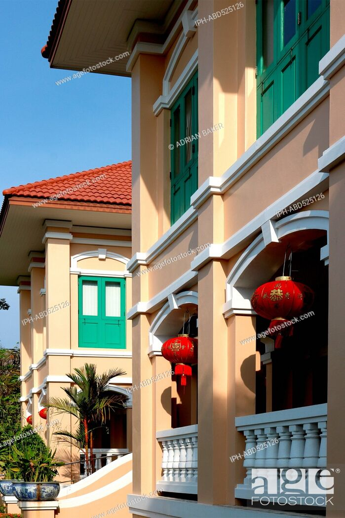 Imagen: Thailand Phuket Phuket Town TAT (Tourism Authority of Thailand) building at Chinese New Year.