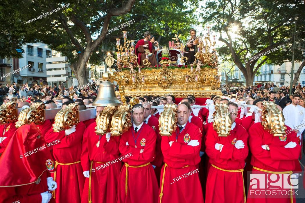 Stock Photo: Semana Santa (Holy Week) celebrations. Malaga. Andalucia. Spain. Europe. 2010.