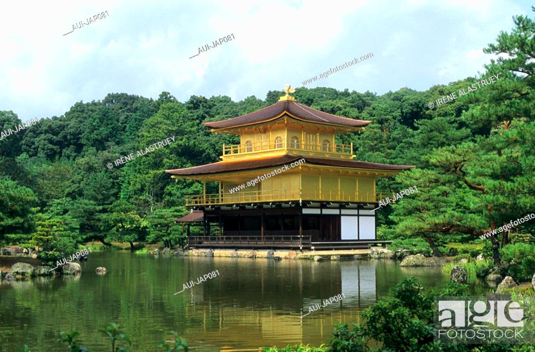 Stock Photo: Japan - Kyoto - Kinkaku Ji Temple - The Golden pavilion.