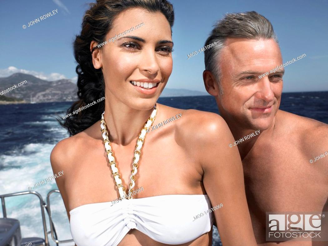 Stock Photo: Couple on a Boat.