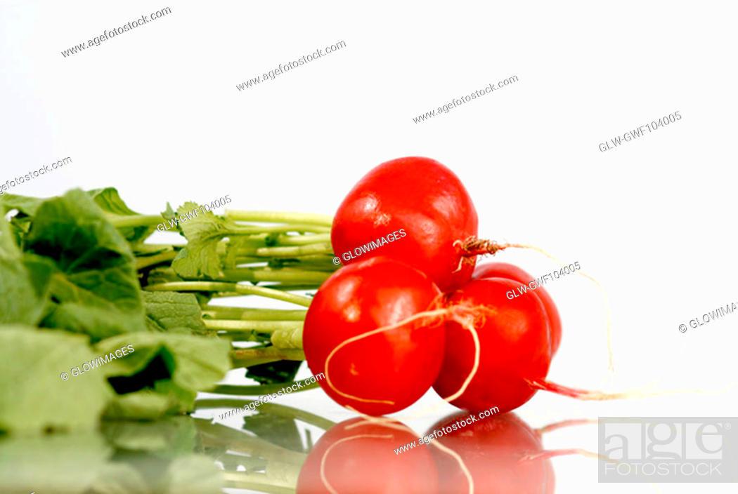 Stock Photo: Close-up of red radish.