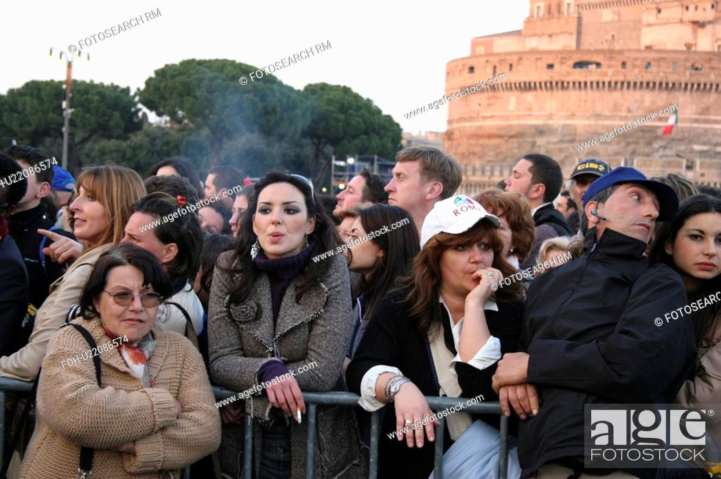 Stock Photo: funeral, people, italy, birthday, person, party.