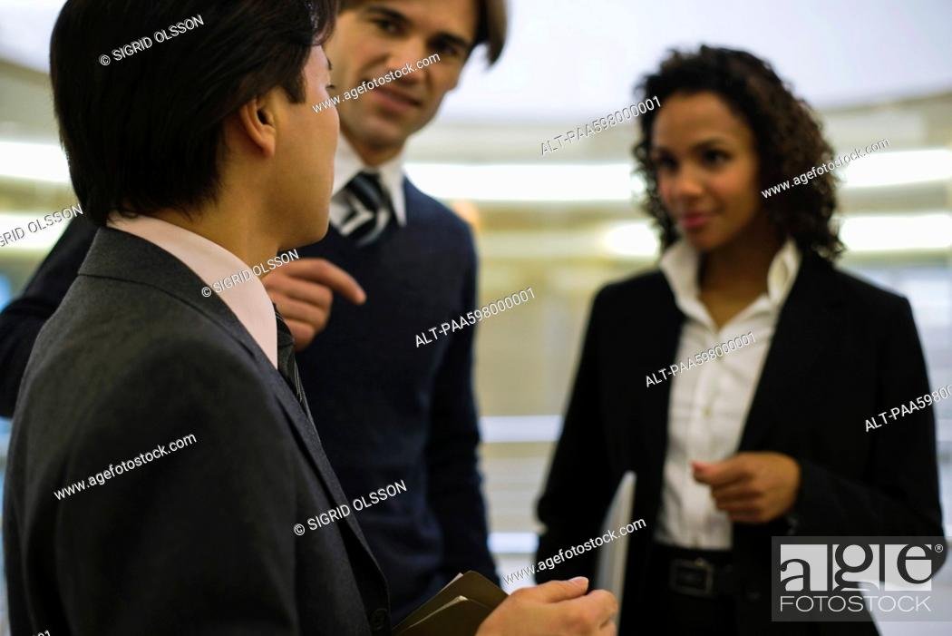 Stock Photo: Executive talking to colleagues.