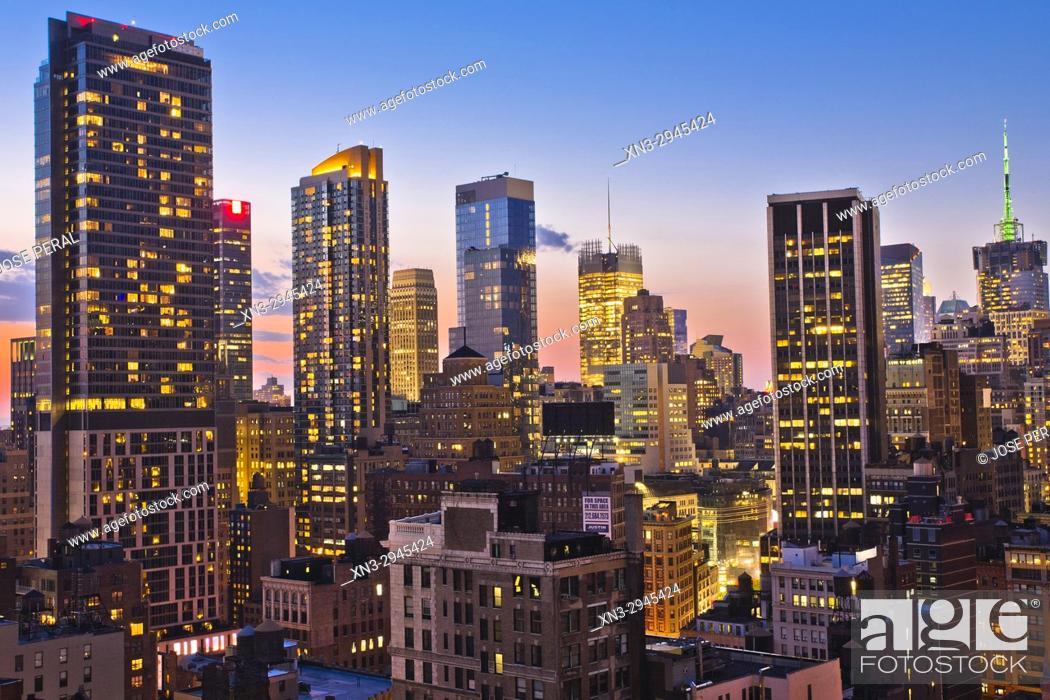 Stock Photo: Midtown skyline, Manhattan, New York City, New York, USA.