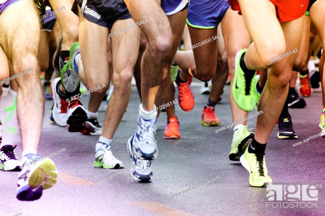 Stock Photo: Close up of Running Feet.