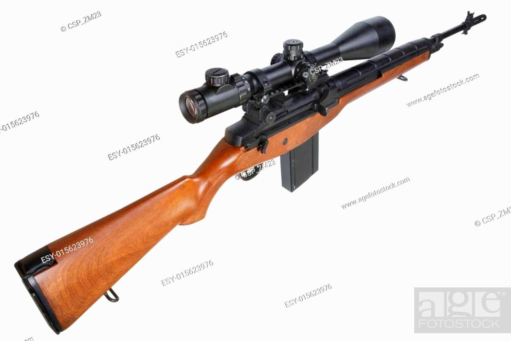 M14 sniper rifle isolated Stock Photos and Images | age