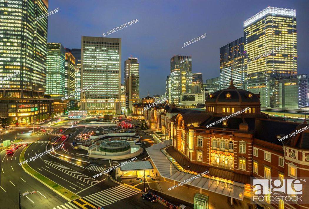 Stock Photo: Japan , Tokyo City, Tokyo Station west side.