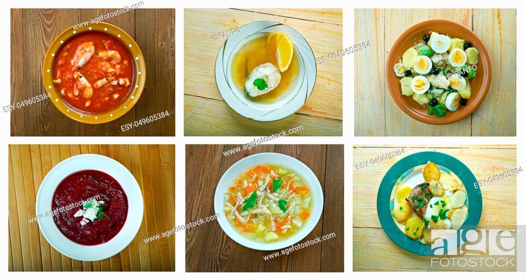 Stock Photo: Food set. spanish and Portuguese traditional cuisine. closeup.