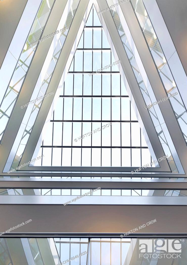 Imagen: Greenwich Creekside, London, United Kingdom. Architect: Squire + Partners, 2012. Abstract view of triangular rooflight.