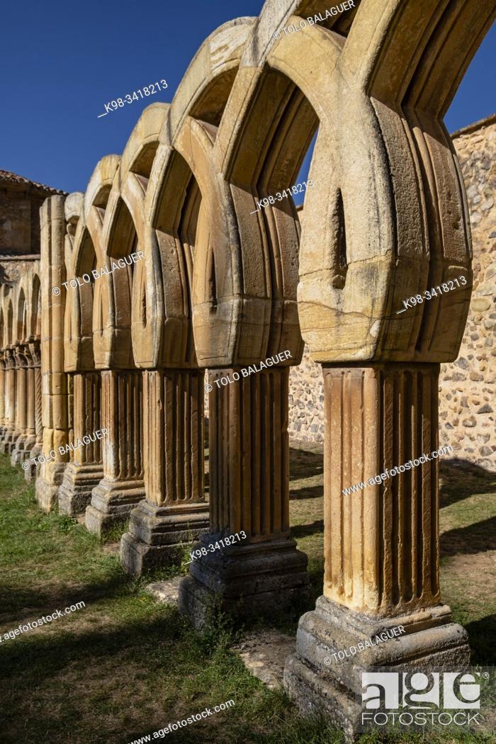Imagen: Arches of the cloister, Monastery of San Juan de Duero, Castilian Romanesque architecture, 12th century, Soria, Autonomous Community of Castile-Leon, Spain.