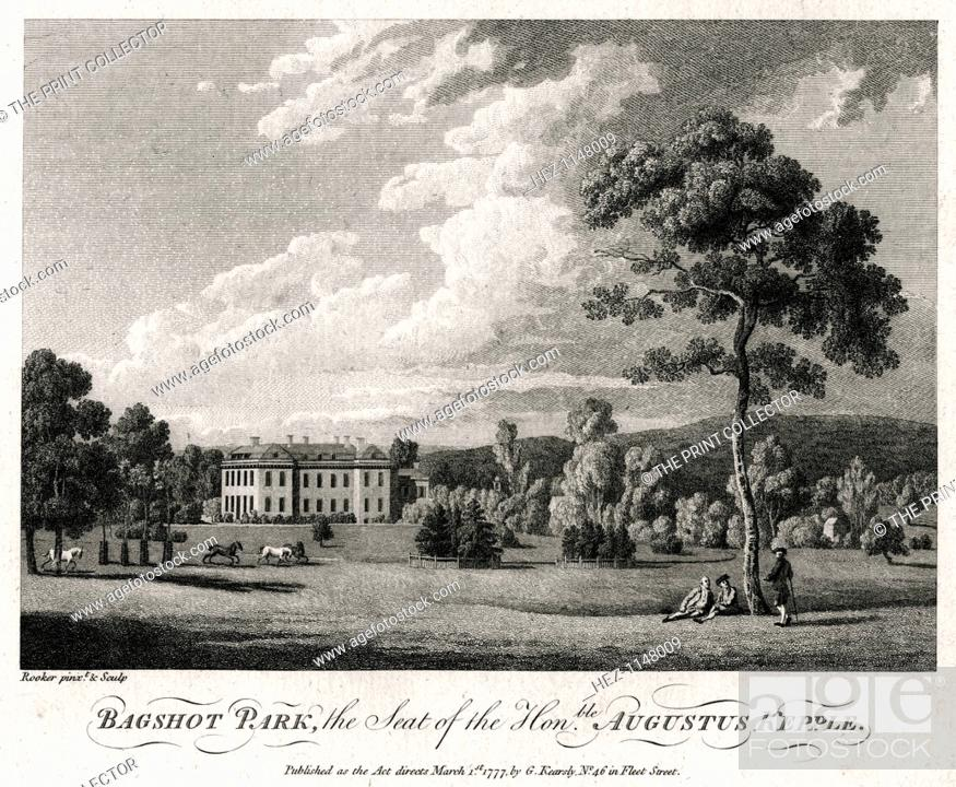 Bagshot Park The Seat Of The Honourable Augustus Kepple 1777