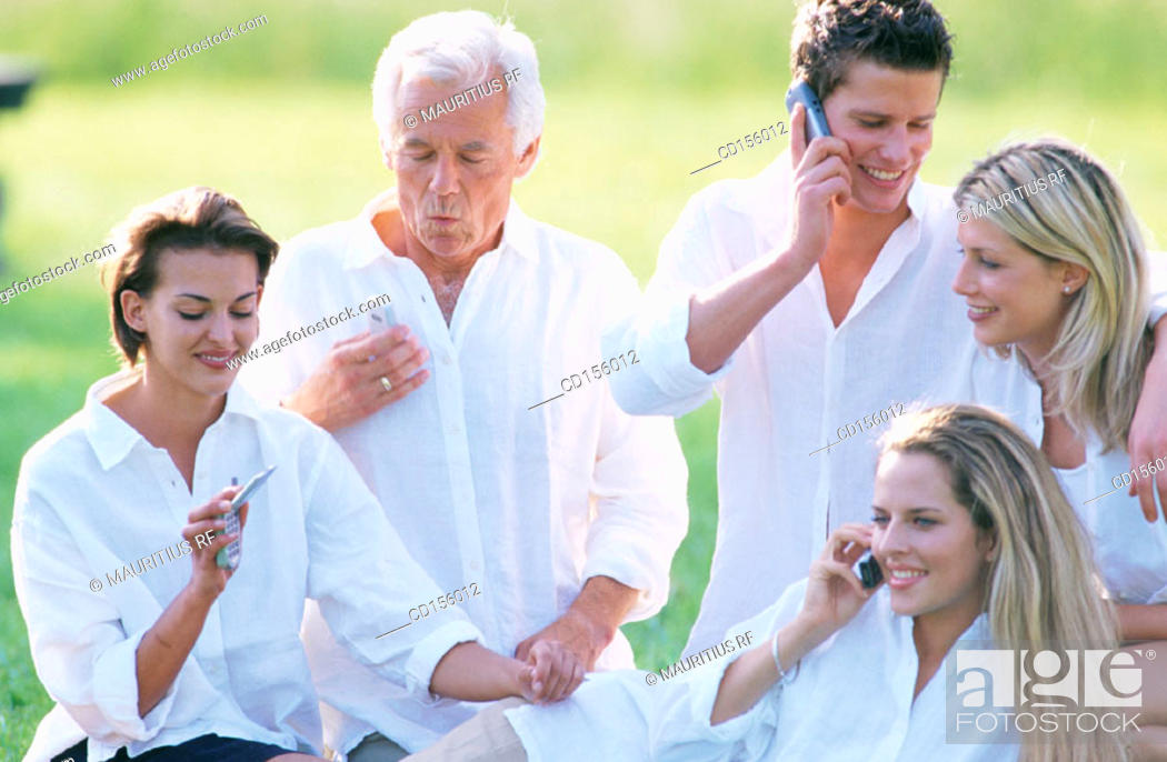 Stock Photo: Together, Friendship, Telecommunication.