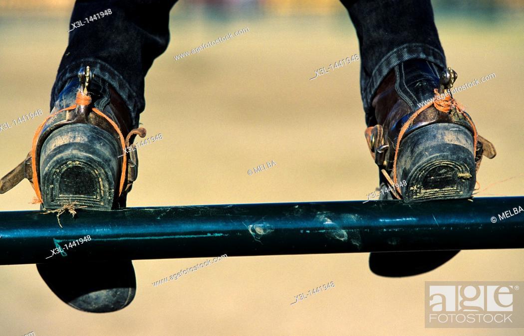 Stock Photo: Rodeo in Redstone  British Columbia  Canada.