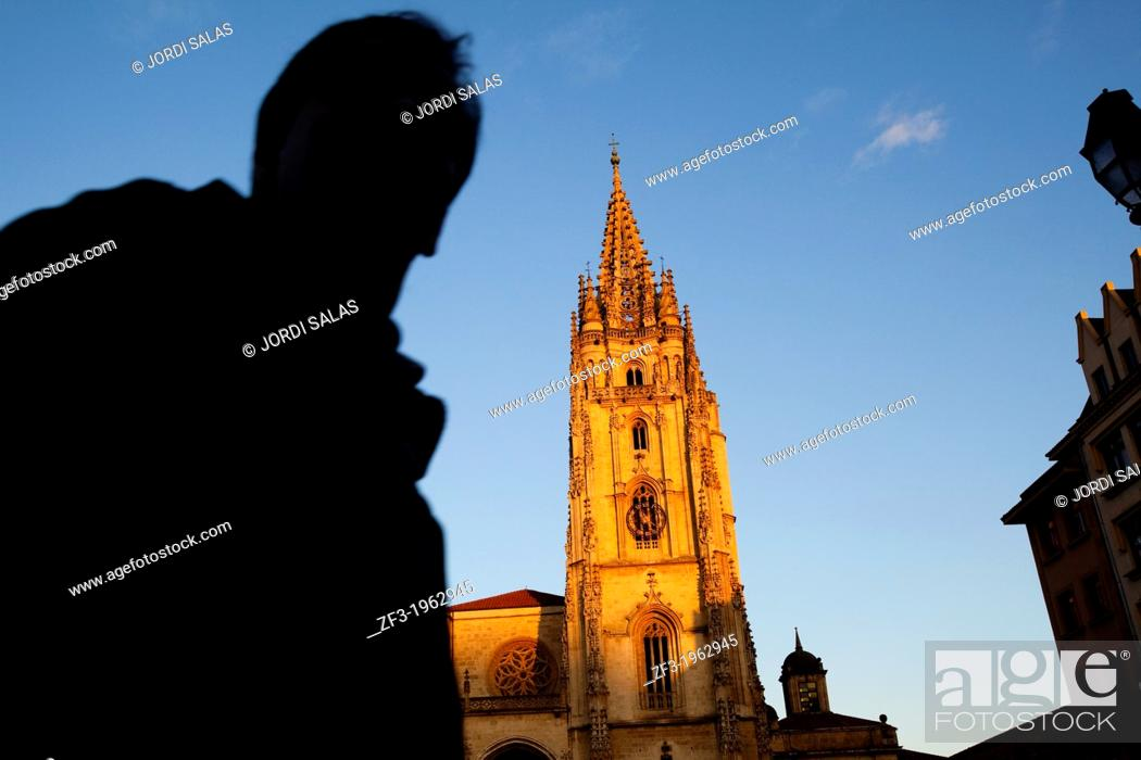 Stock Photo: Cathedral of Oviedo.
