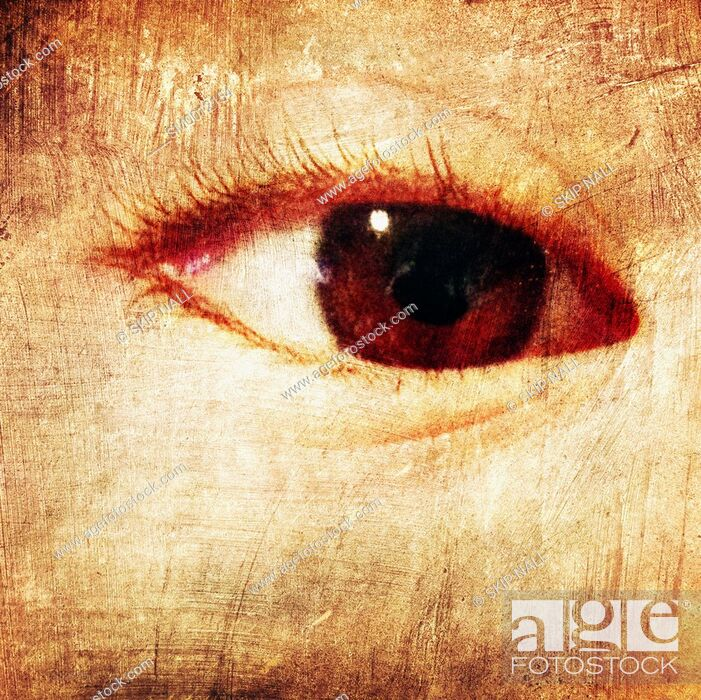 Stock Photo: Closeup on a child's eye.