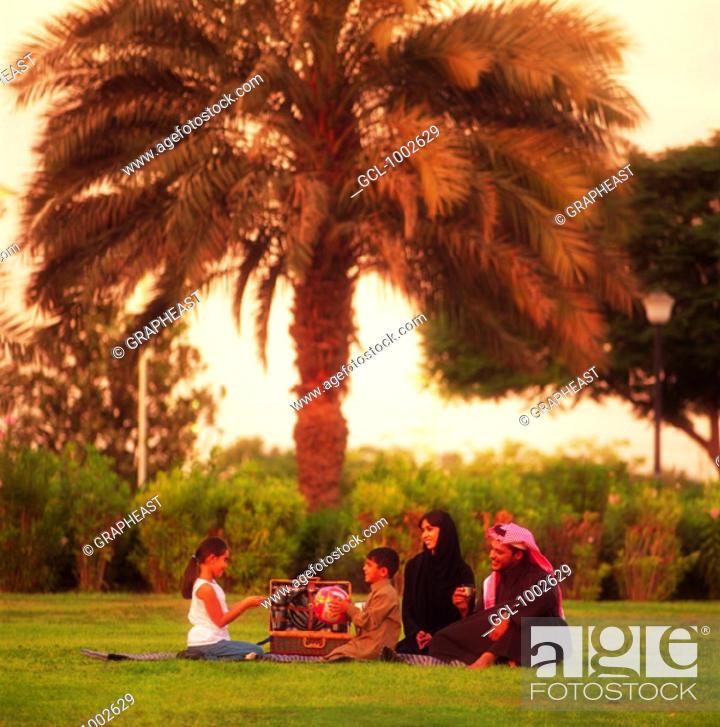 Stock Photo: Family picnic in the park.