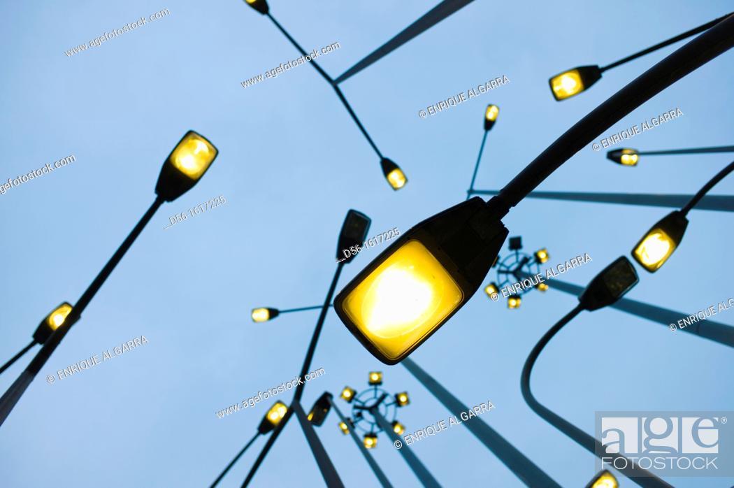 Stock Photo: Street lamps, Bilbao, Euskadi, España.