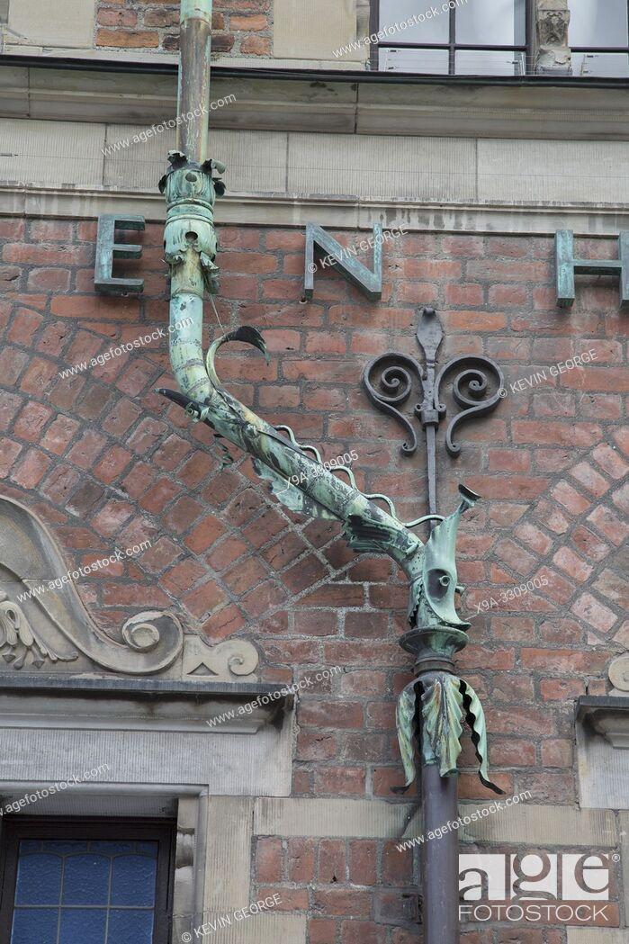 Stock Photo: Detail on Facade of Royal; Copenhagen Shop, Denmark.