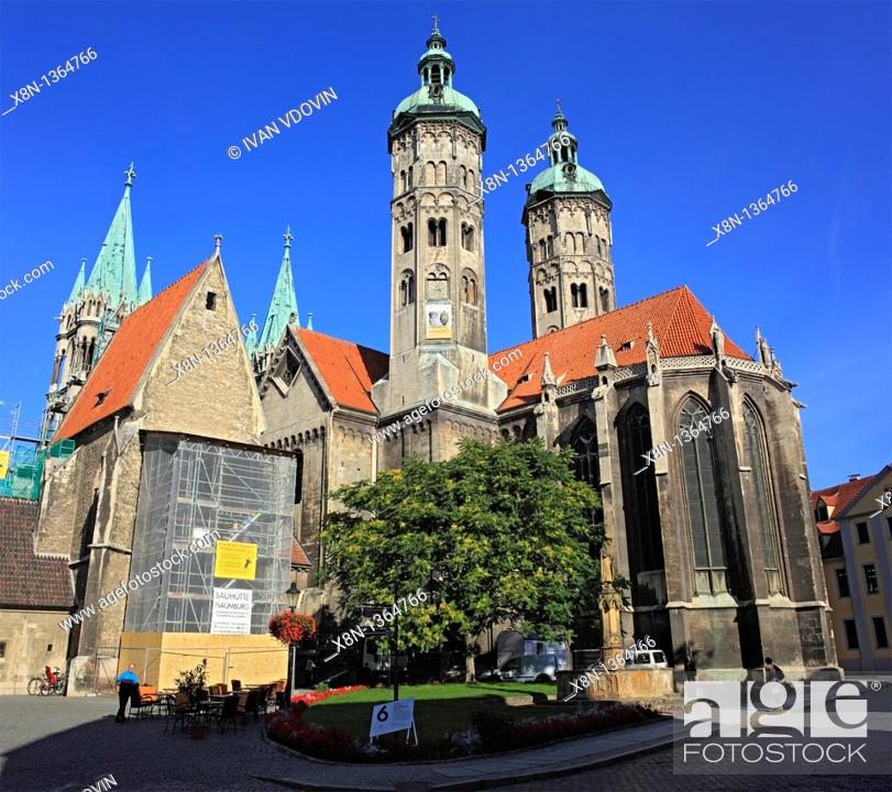 Stock Photo: Cathedral, Naumburg, Saxony-Anhalt, Germany.