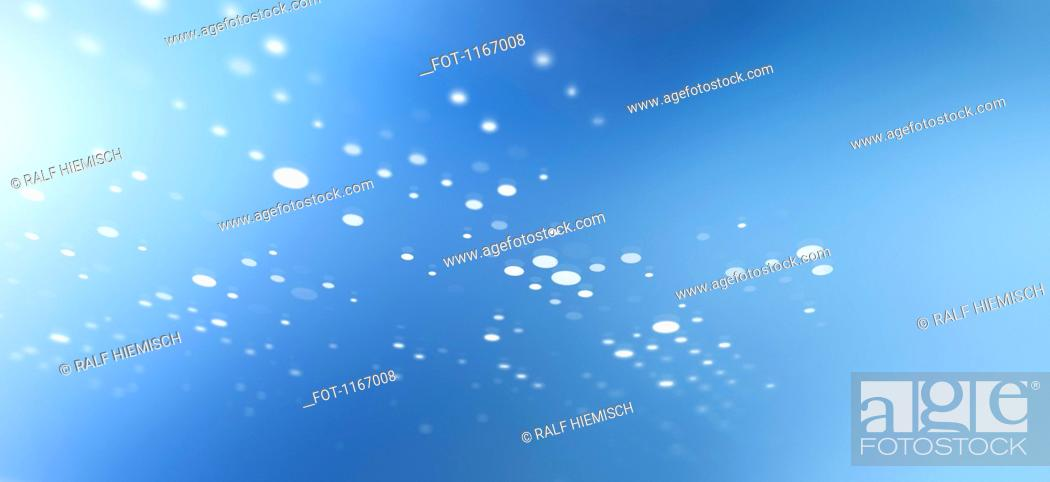 Stock Photo: Diminishing dot pattern against an abstract background.