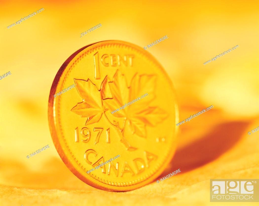 Stock Photo: Copper coin.