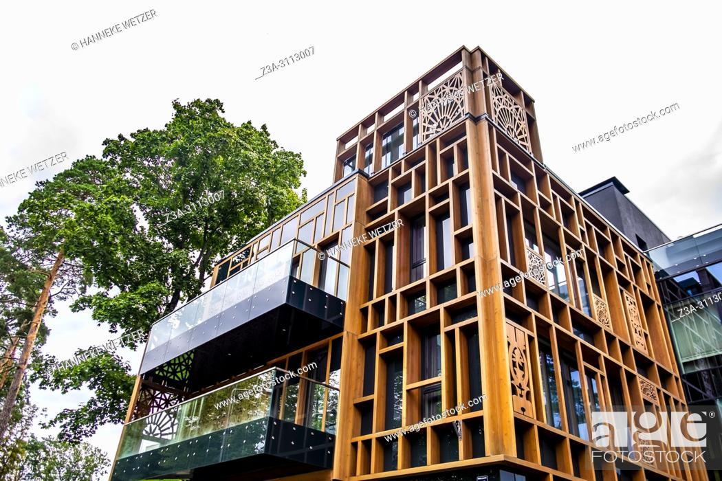 Imagen: Brand new modern architecture in Dzintari, Jurmala, Latvia, Europe.