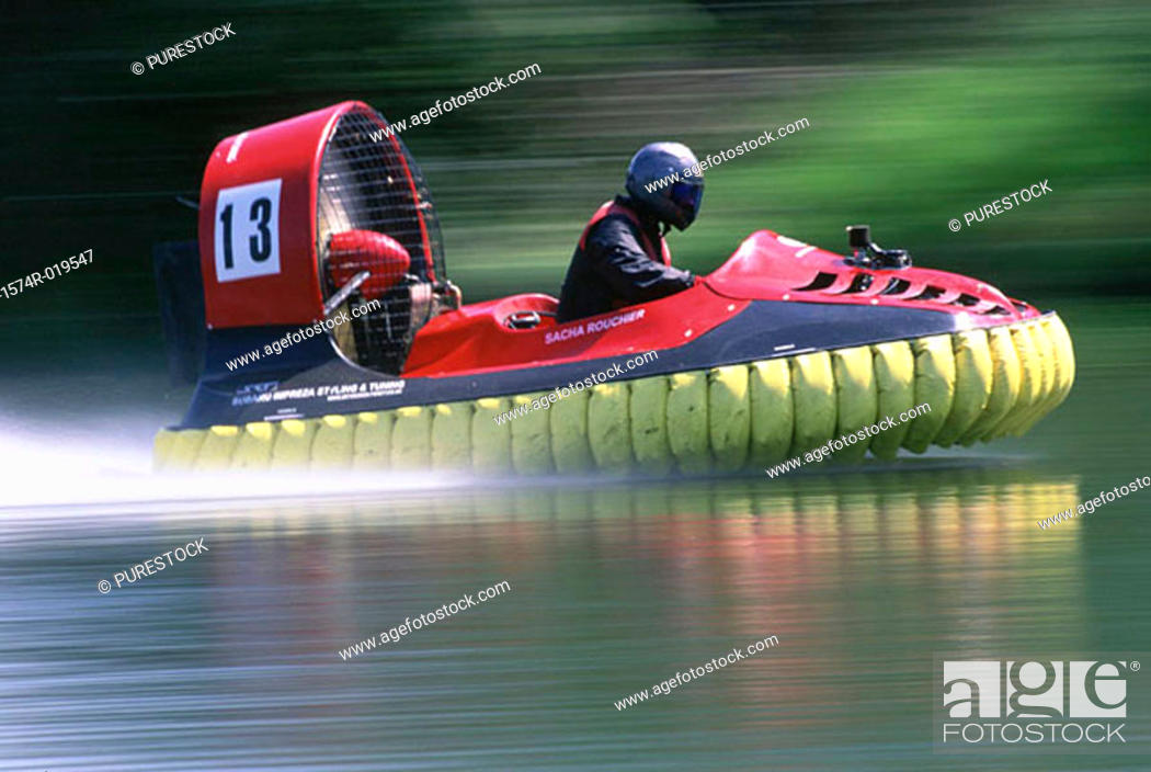 Stock Photo: Hovercraft racing.