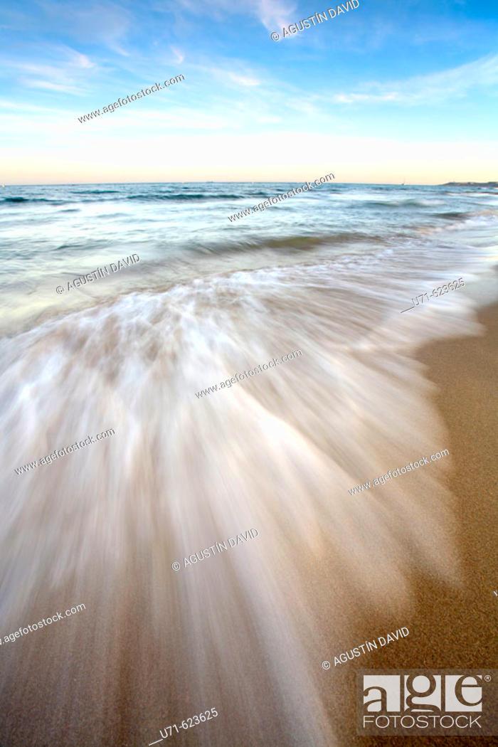 Stock Photo: Waves. Alicante. Comunidad Valenciana. Spain.