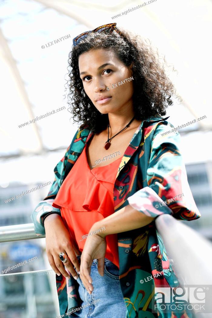 Stock Photo: Young woman, Fashion, Photoshoot, Germany, Europe.