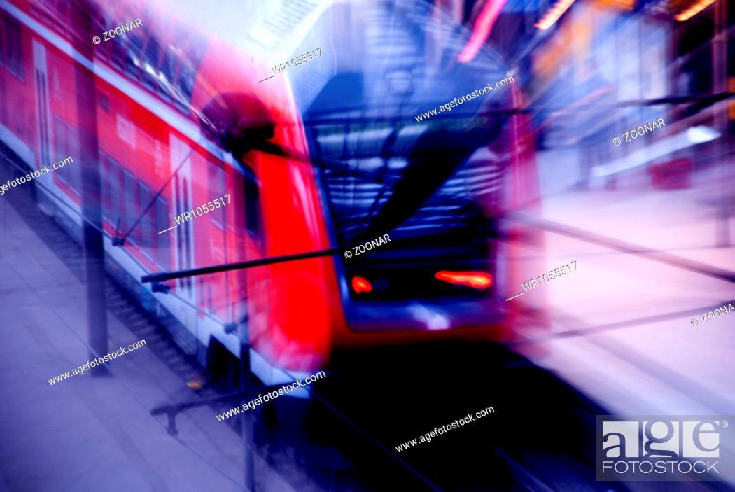 Stock Photo: Moving Train.