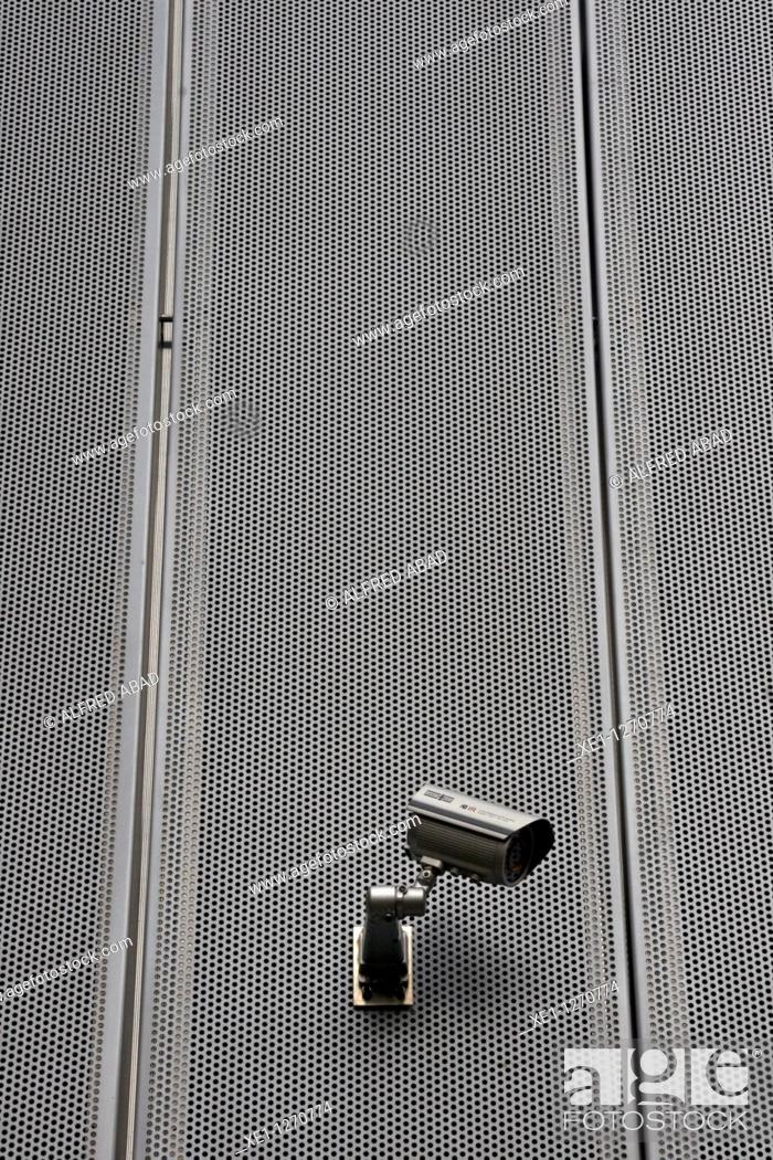 Stock Photo: security camera.