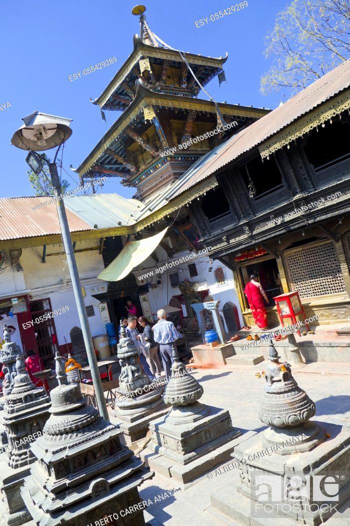 Imagen: Hindu Temple, Kathmandu, Nepal, Asia.