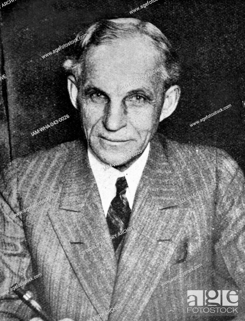 Stock Photo: Photograph of Henry Ford (1863 - 1947) American industrialist and founder of the Ford Motor Company. Dated 1919.