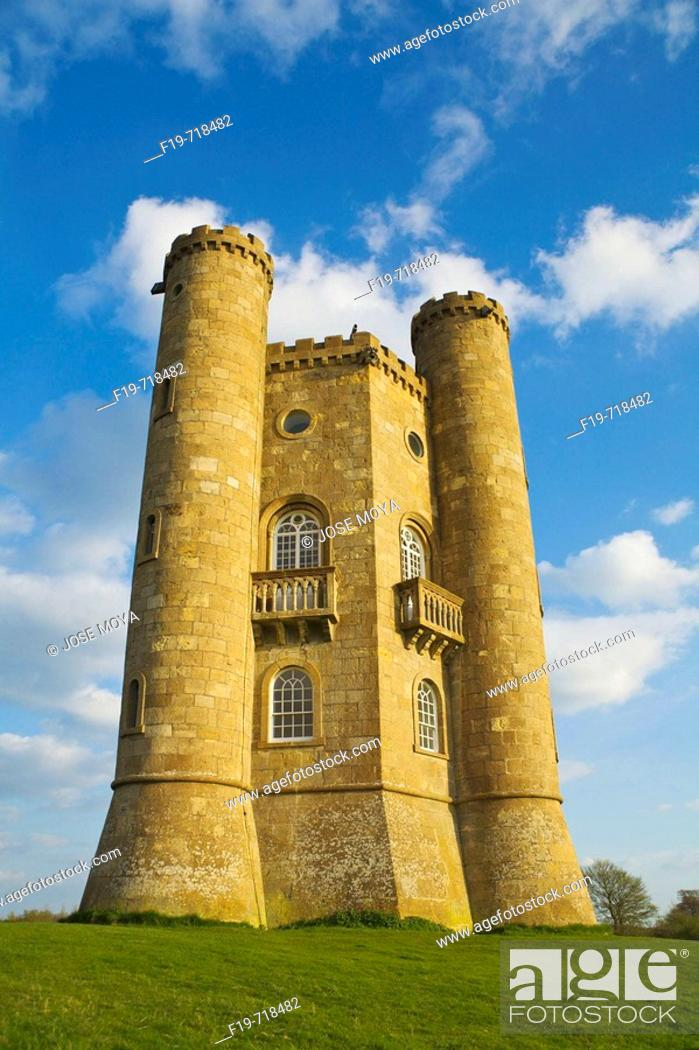 Stock Photo: Broadway Tower, Worcestershire, England.